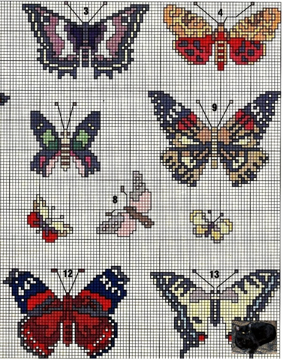Схемы для вышивки брошей бисером 14