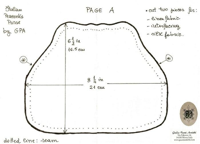 Схемы для вышивки сумок с фермуаром