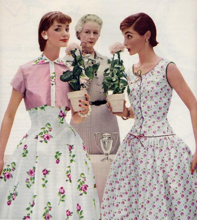 Америка 50-х годов платья