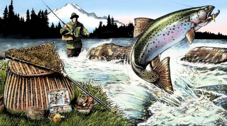 картины про рыбалку фото
