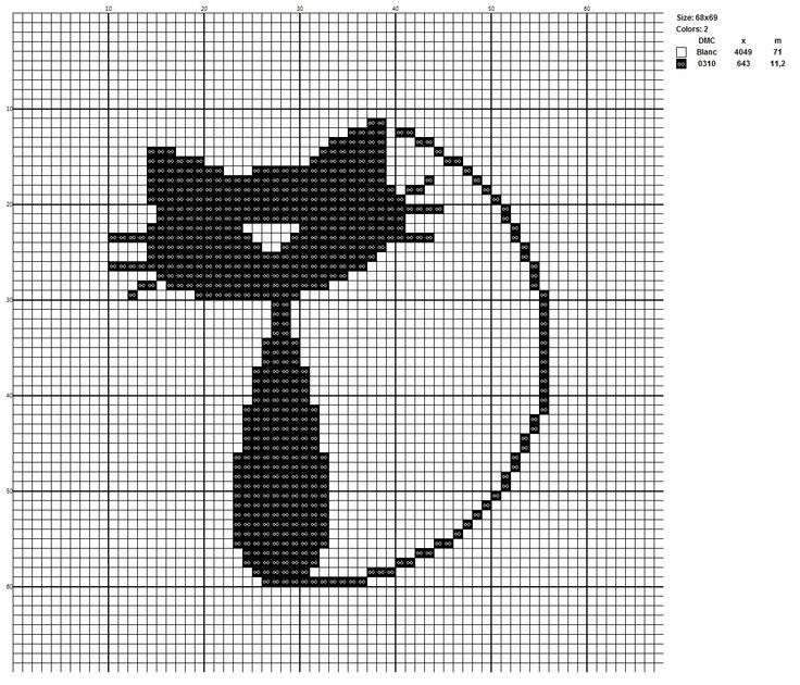 Схемы вышивки кошки монохром