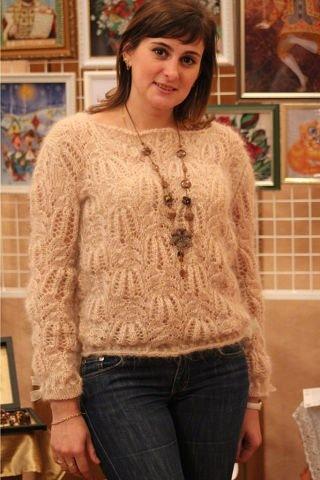 Бежевый Ажурный Пуловер С Доставкой