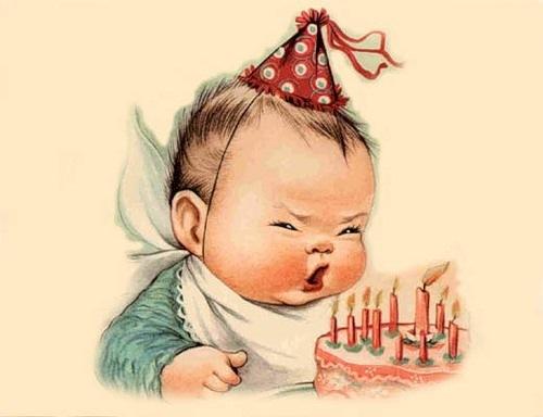 Открытка с днём рождения старая 3