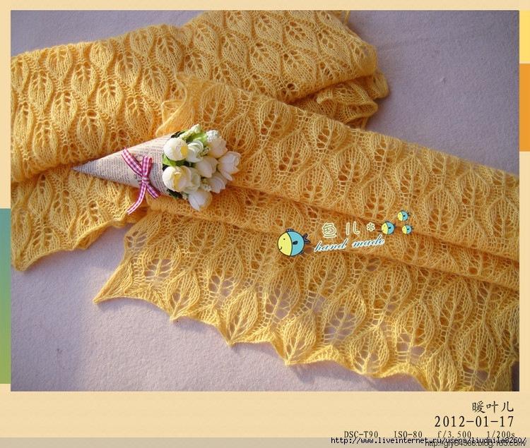 Ажурный шарф спицами мастер класс - Мужской шарф спицами Черная Ночь Вяжем с Лана Ви