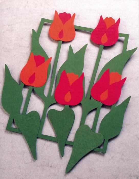Открытка тюльпан из бумаги