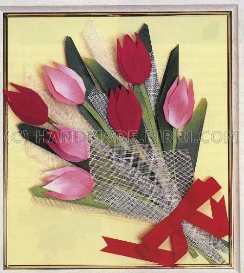 Объемные открытки букет цветов