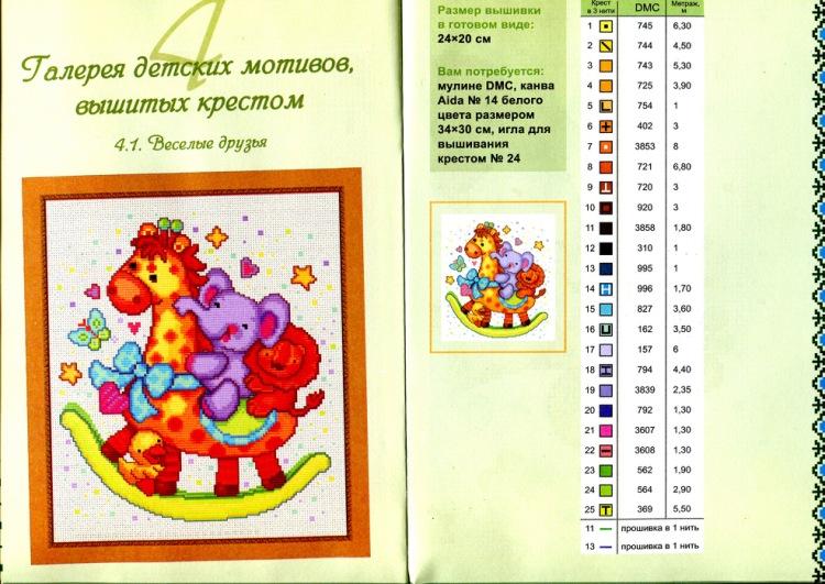Вышивка крестом детские мотивы 85