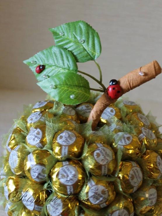 Как сделать из конфет фрукты своими руками  308