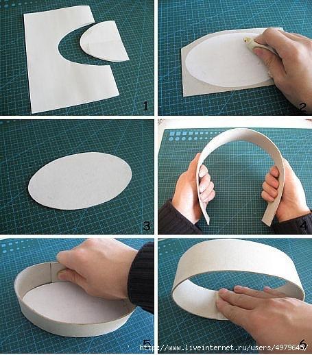 Как сделать овальную коробочку из картона