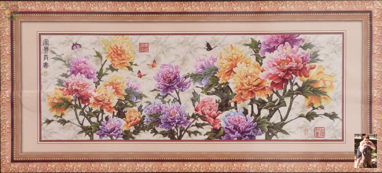 Китайская вышивка наборы вышивки 599