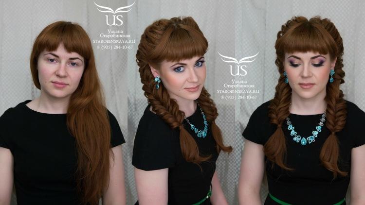Плетение причёсок на длинные волосы с чёлкой
