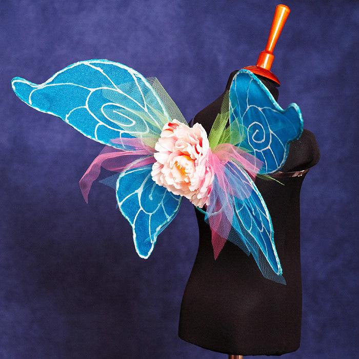 Как сделать крылья бабочки своими руками из ткани и проволоки 60