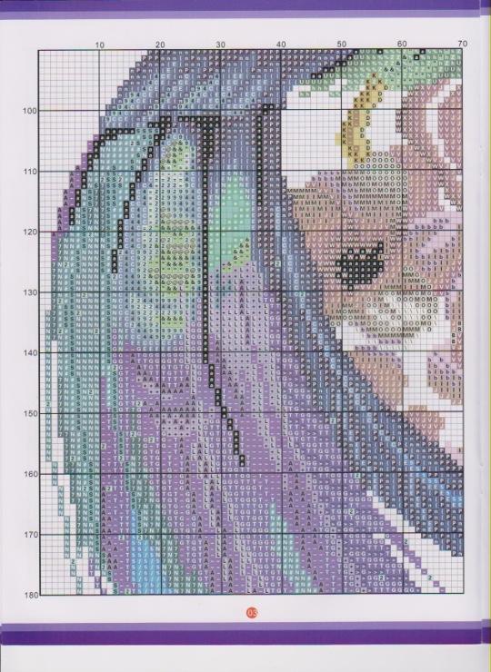 вышивка синяя птица схема