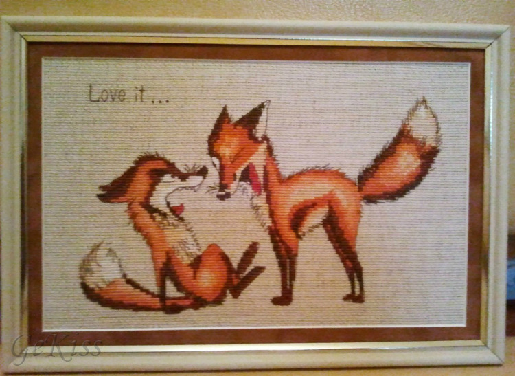Вышивка крестом лисичка