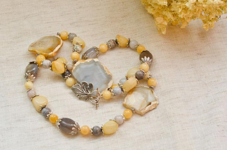 Комплекты из натуральных камней своими руками 7