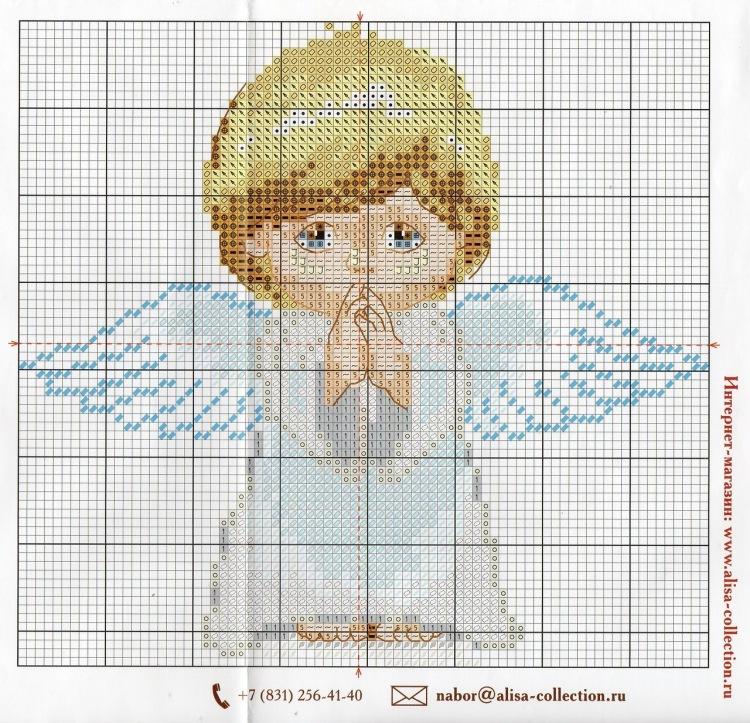 Схема вышивки крестом: ангелы скачать бесплатно Надо