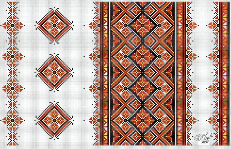 Узоры в украинских вышивках 755