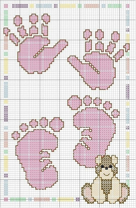 Метрики к рождению малыша » Метрики » Вышивка крестом бесплатные