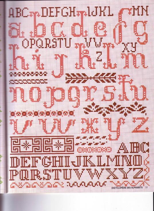 Ивритский алфавит схема вышивки 36