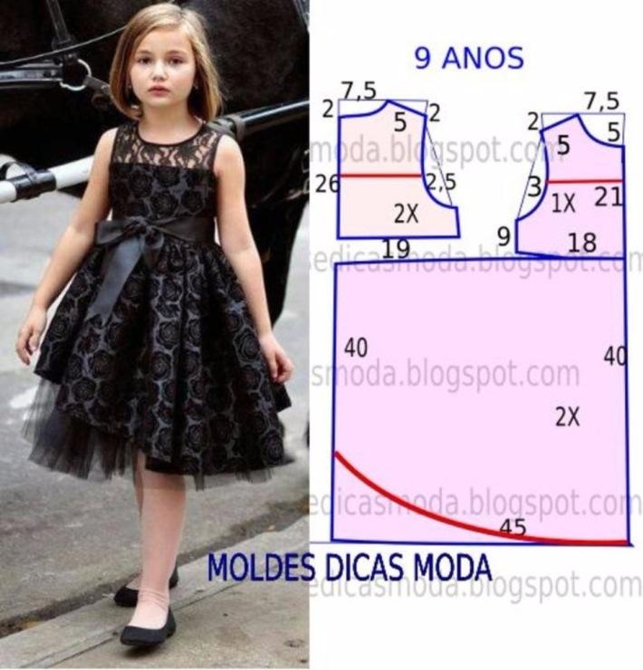 Фото платье для девочки выкройки