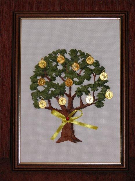 Вышивка лентами дерево схемы