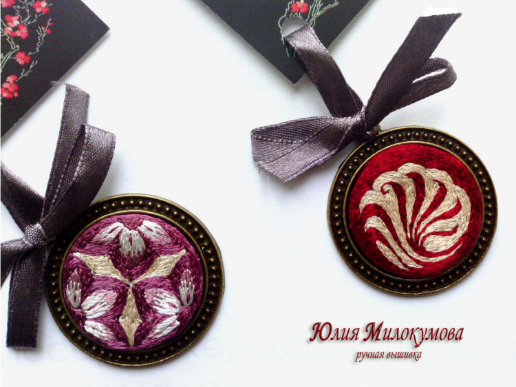Вышивка медальона как сделать