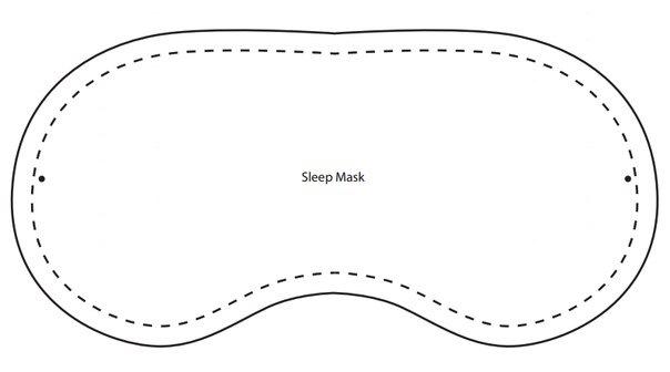 Сшить повязку для сна на глаза 16